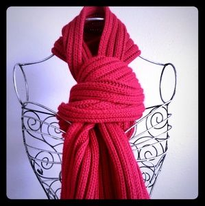 Lipstick Red Cable Scarf